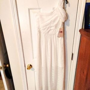 New Gianni Bini One Shoulder Social Dress 10 White